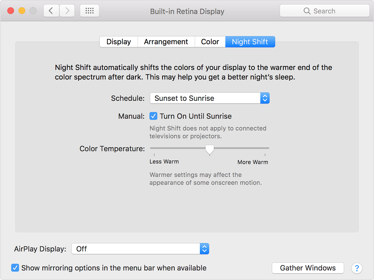 Night Shift feature for older unsupported Macs