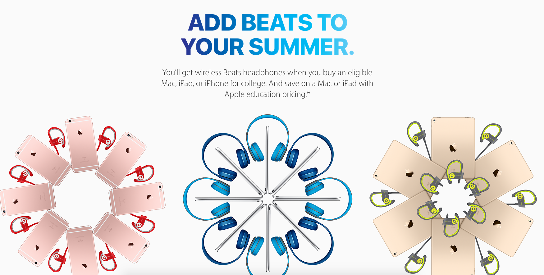 Apple Back to School Promotion 2016